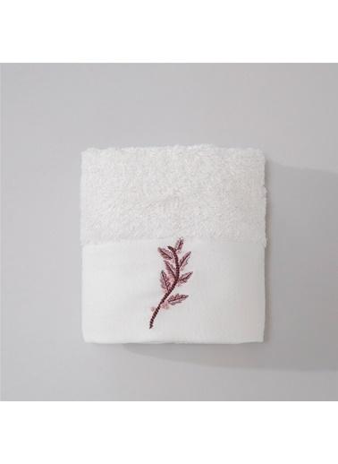 Chakra Florı Havlu 30*50 Beyaz